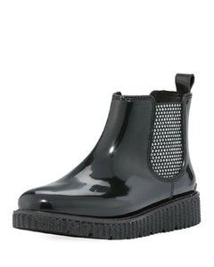 Michael Kors Rain Ankle Studded Stretch Rubber Black Boots