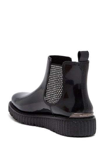 Michael Kors Rain Ankle Studded Stretch Rubber Black Boots Image 2