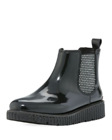 Michael Kors Rain Ankle Studded Stretch Rubber Black Boots Image 4