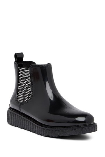 Michael Kors Rain Ankle Studded Stretch Rubber Black Boots Image 5