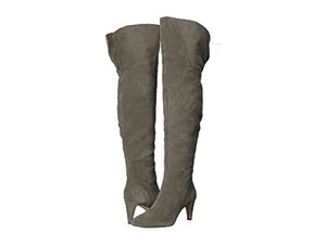 Vince Camuto Suede Leather Over The Knee Gray Boots