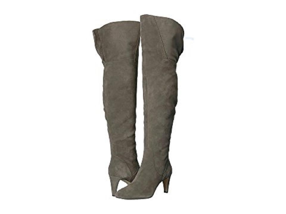 9d4a9b6e327 Vince Camuto Gray Armaceli Suede Leather Over The Knee Boots Booties ...