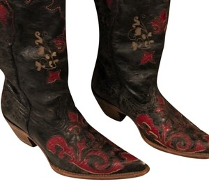 Corral Boots Black & Red Boots