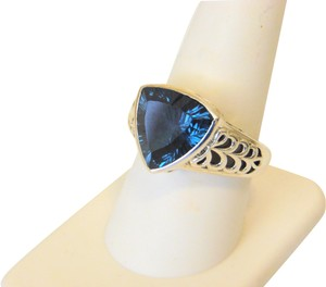 Nicky Butler Nicky Butler 6.30ctw Island Blue Quartz Triplet Ring 9
