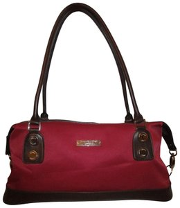 0e88f419901 Etienne Aigner Man Made Canvas 001 Satchel in red   brown