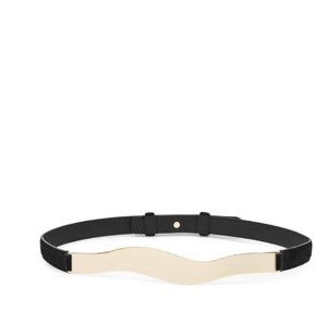 Reiss Reiss Bianca Suede Curved Waist Belt - Medium