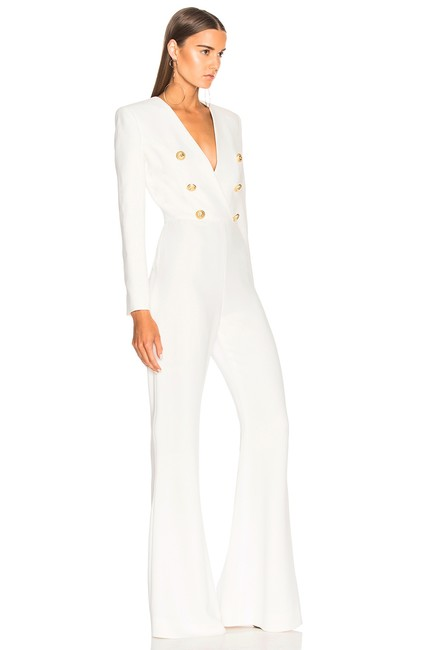 DIOR BELLA Shay White Double Breasted Jumpsuit