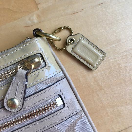 Coach Wristlet in Tan with Gold Hardware Image 1