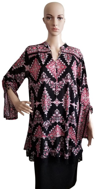 Preload https://img-static.tradesy.com/item/23797795/floral-print-multicolor-shirt-medium-tunic-size-os-one-size-0-1-650-650.jpg