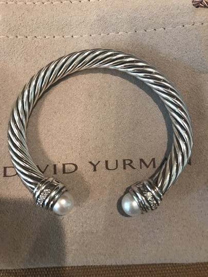 David Yurman Cable Classics Bracelet with Pearls and Diamonds, 7mm Image 1