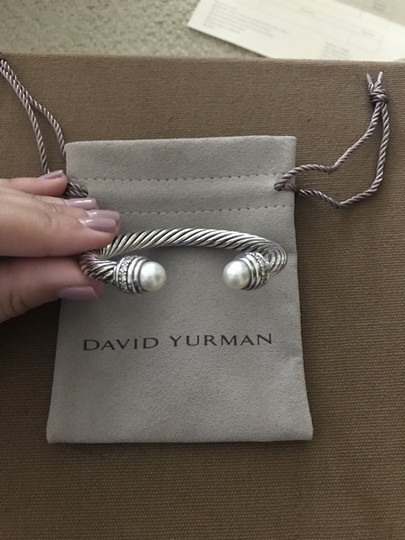 David Yurman Cable Classics Bracelet with Pearls and Diamonds, 7mm Image 2