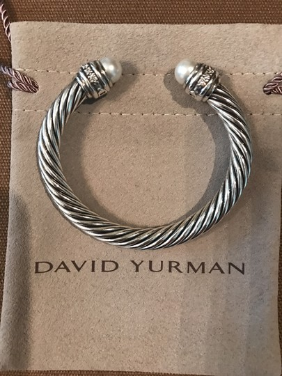 David Yurman Cable Classics Bracelet with Pearls and Diamonds, 7mm Image 3