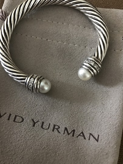 David Yurman Cable Classics Bracelet with Pearls and Diamonds, 7mm Image 4