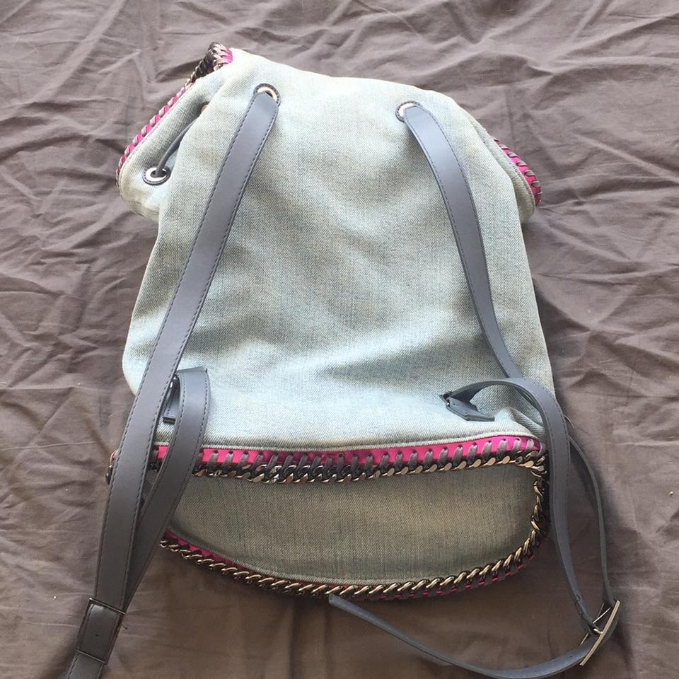 Pink McCartney Gunmetal and Details Jean Chain with Backpack Accents Stella Purse FdnCxqUC