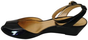 Coach Black Patent Leather Wedges