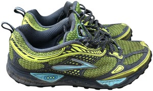 Brooks Trail Running Cascadia Jogging Yellow/Blue/Gray Athletic