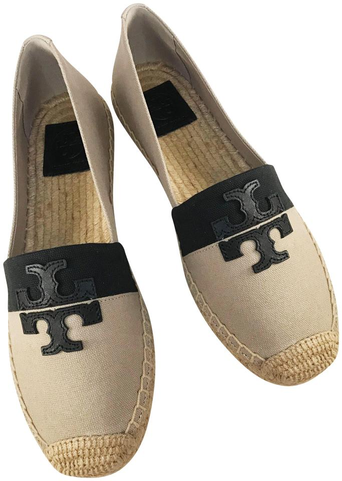 be07e48d592 Tory Burch Natural Black Weston Canvas Espadrilles Flats Size US 8.5 ...