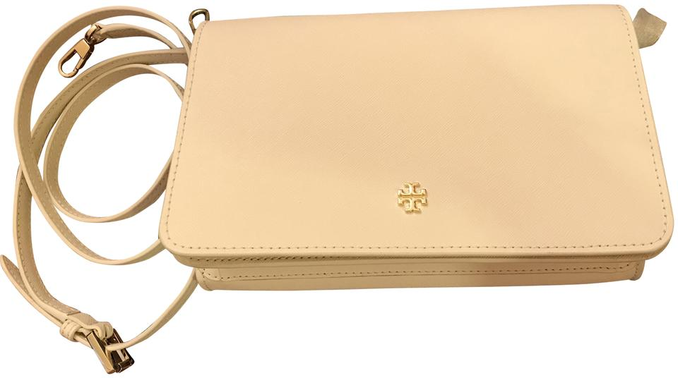 d51506bfbb2 Tory Burch Sale Emerson Combo New Ivory Saffiano Leather Cross Body ...