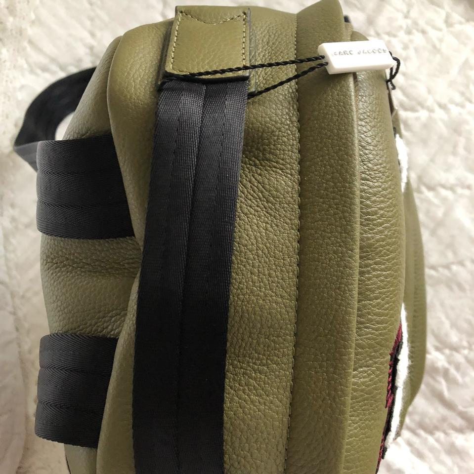 Large Leather Green Marc Army Varsity Backpack Pack Jacobs qgwZ174