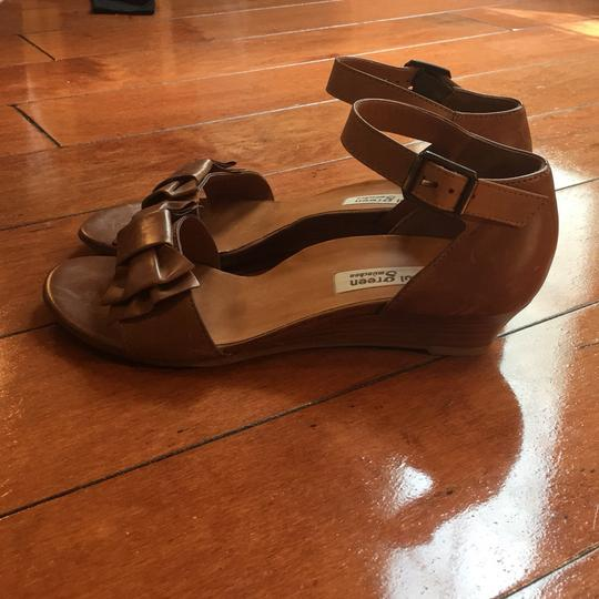 Paul Green Tan Genuine Leather Strappy Bow-Tie Sandals