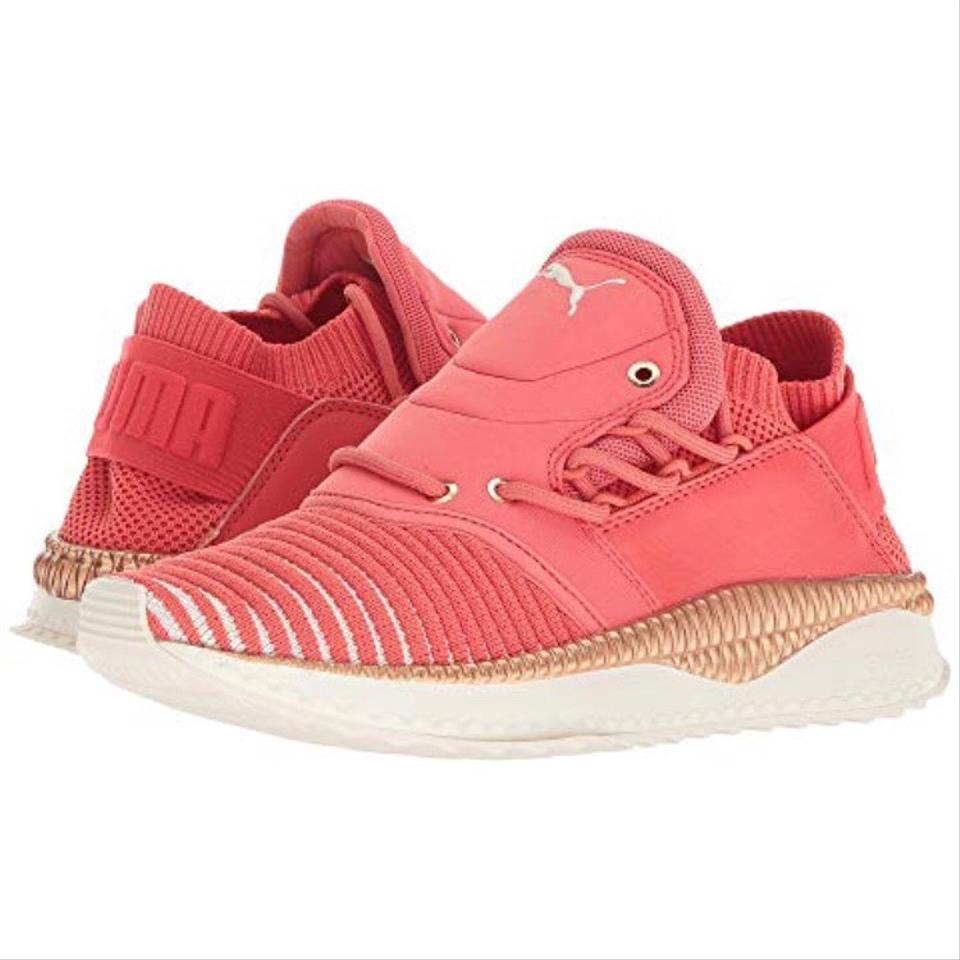 e67dc5451cbf Hot Coral   White   Gold Puma® Ignite Tsugi Shinsei Evoknit Sneakers ...