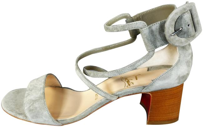 Item - Taupe Grey Argile Choca 55 Suede Chunky Heels Ankle Straps New Sandals Size EU 39.5 (Approx. US 9.5) Regular (M, B)