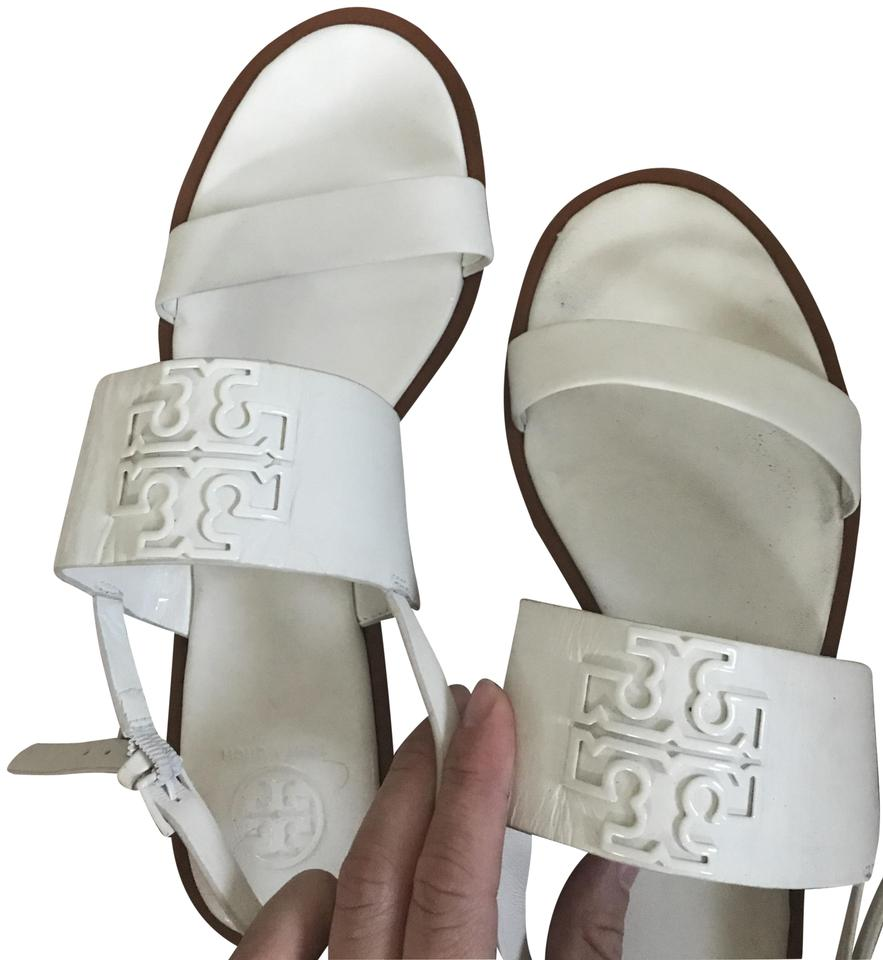 ladies Tory Strong Burch White Leather Sandals Strong Tory heat and heat resistance c54294