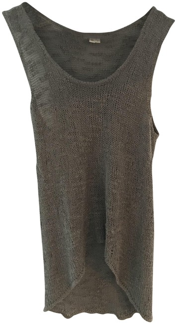 Item - Gray Open-work Silk Tank Top/Cami Size 2 (XS)