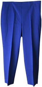 Talbots Heritage Side Zip Flat With Tags Ankle Straight Pants Blue