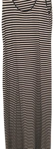 Black and white stripe Maxi Dress by Kenneth Cole
