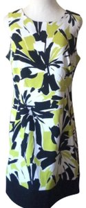 Ronni Nicole short dress white lime green black on Tradesy