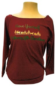 Next Level Apparel East Broadway Hi Lo Breathable Handmade Vintage Top Maroon