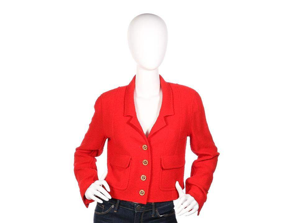 0e41deebea60ca Chanel Red *sold On Ebay*boutique Vintage 1993 Wool Jacket Size 8 (M ...