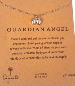 Dogeared Gold Dipped Silver Plated Angel Wings
