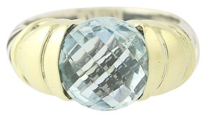 David Yurman David Yurman Blue Topaz Capri Ring -Sterling Silver & 14k Yellow Gold