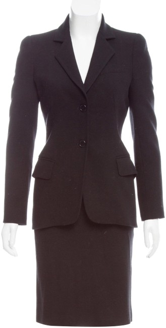 Item - Black Wool Power Skirt Suit Size 2 (XS)