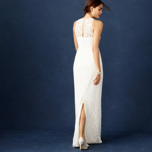 J.Crew Ivory Lace Pamela Modern Wedding Dress Size 4 (S)