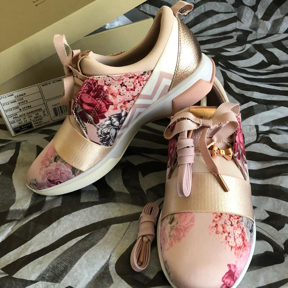 92dda3f81d352c Ted Baker Pink Cepap Palace Garden Sneakers Size US 6 Regular (M