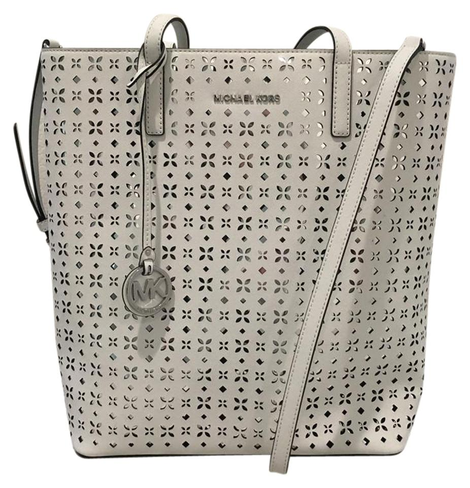 1ec358328ece Michael Kors Hayley Large Perforated-leather 30t6sh3t Tote - Tradesy