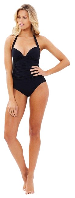 Item - Black Jets By Jessika Allen 50's Gathered Swimsuit One-piece Bathing Suit Size 6 (S)