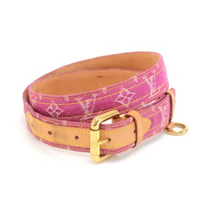 Louis Vuitton Louis Vuitton Magenta Ceinture Monogram Denim Belt Size 90/36