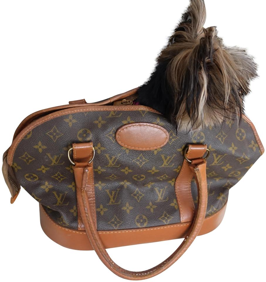 d42b33d8fca9 Louis Vuitton Dog Carrier Vintage Dog Carrier Rare Monogram Brown Travel Bag  Image 0 ...