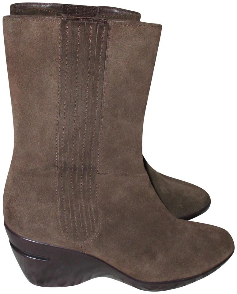 c54d8df031ba Cole Haan Brown Nikeair Womens Suede Leather Wedge Comfort Boots Booties.  Size  US 8 ...