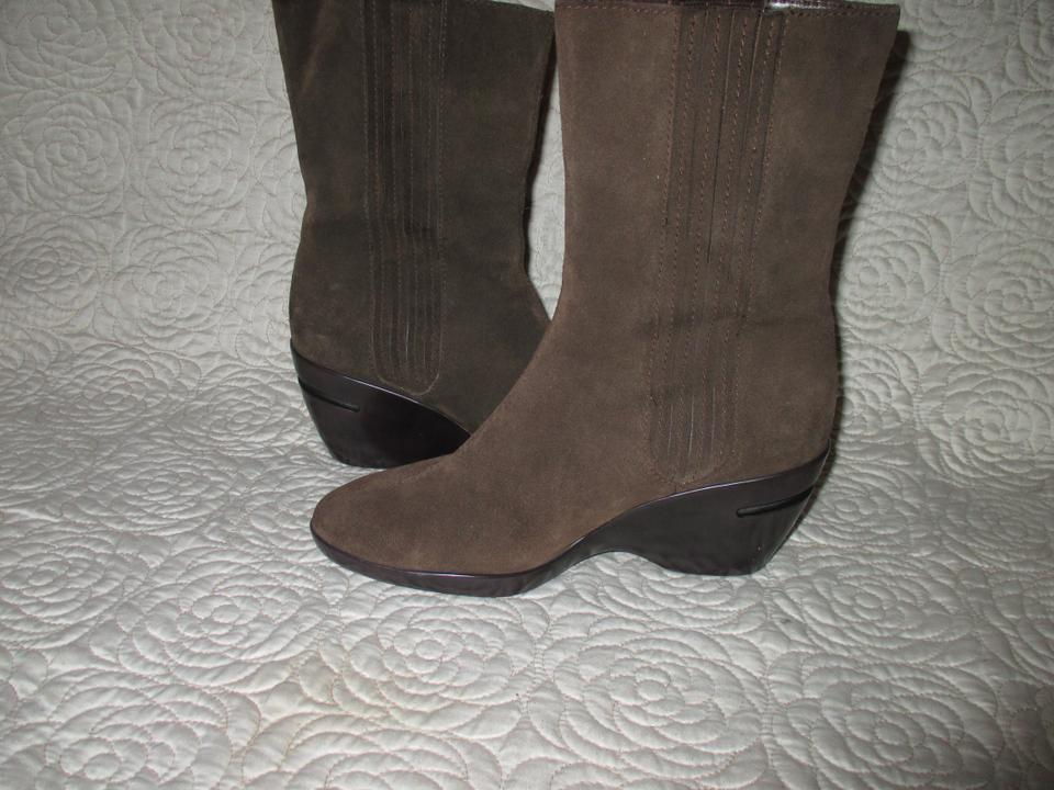 73e49feb2072 Cole Haan Brown Nikeair Womens Suede Leather Wedge Comfort Boots Booties  Size US 8 Regular (M