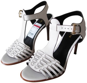 215f5050c39 Coach T-strap Wooden Heels Strappy Black And chalk white Sandals