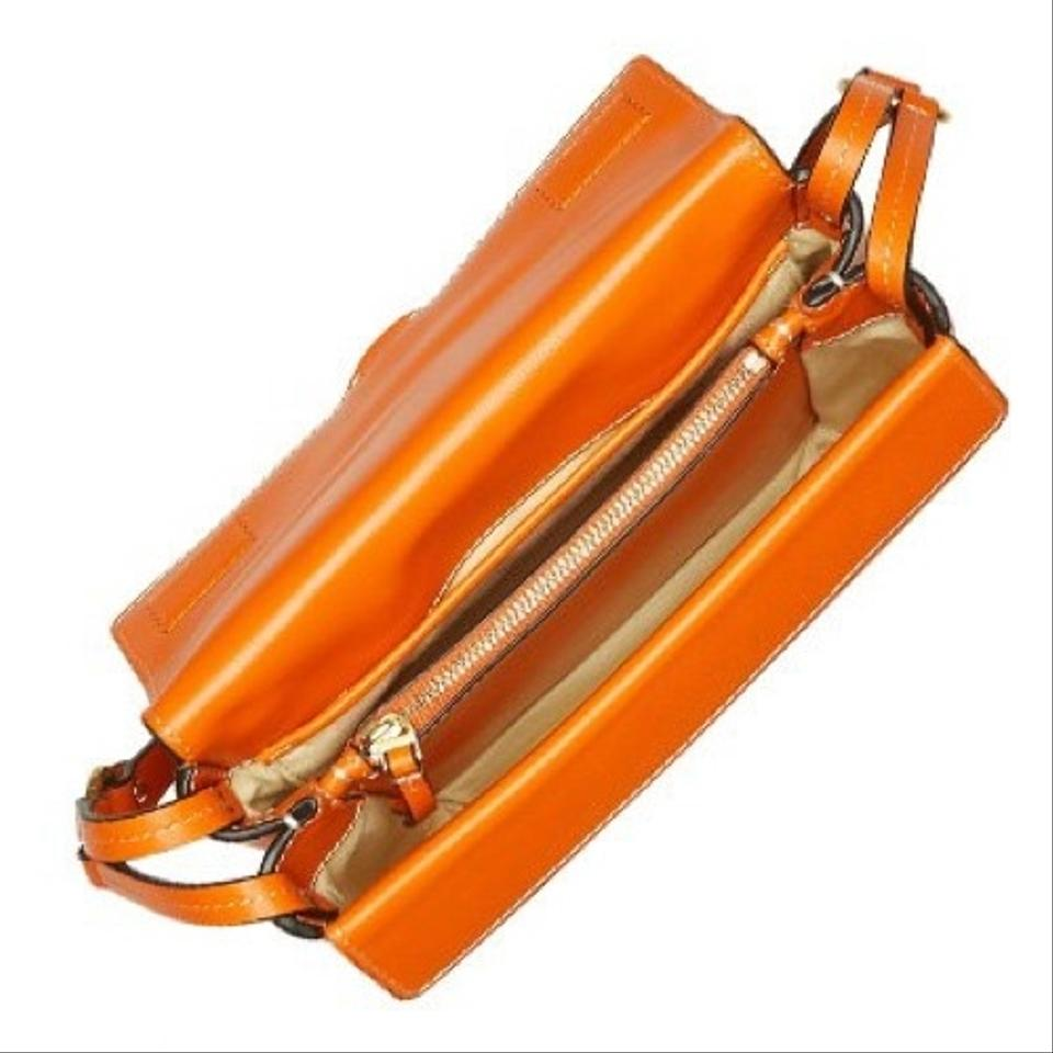 Leather Miller Tory Body Bag Cross Orange Burch In IHHw5zq