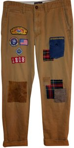 American Eagle Outfitters Tan Men's Custom Patchwork 34x34 Pants Size 14  (L, 34)