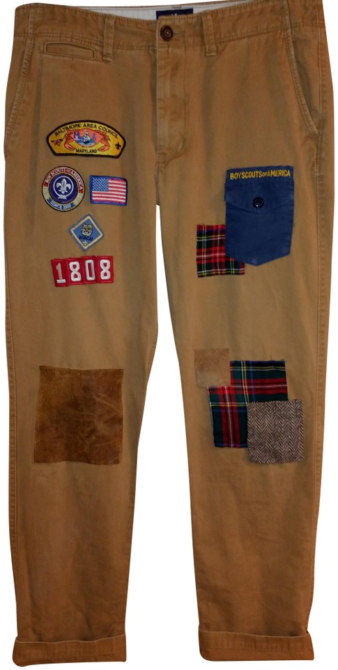 American Eagle Outfitters Tan Men s Custom Patchwork 34x34 Pants ... b96f75eb4d3a