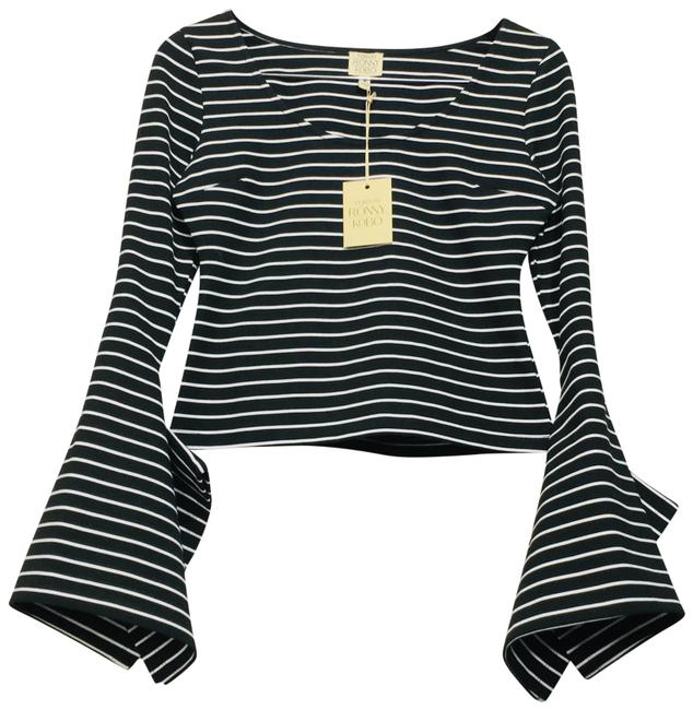 Item - Black White The Abyss Of The Sleeves Striped Blouse Size 0 (XS)