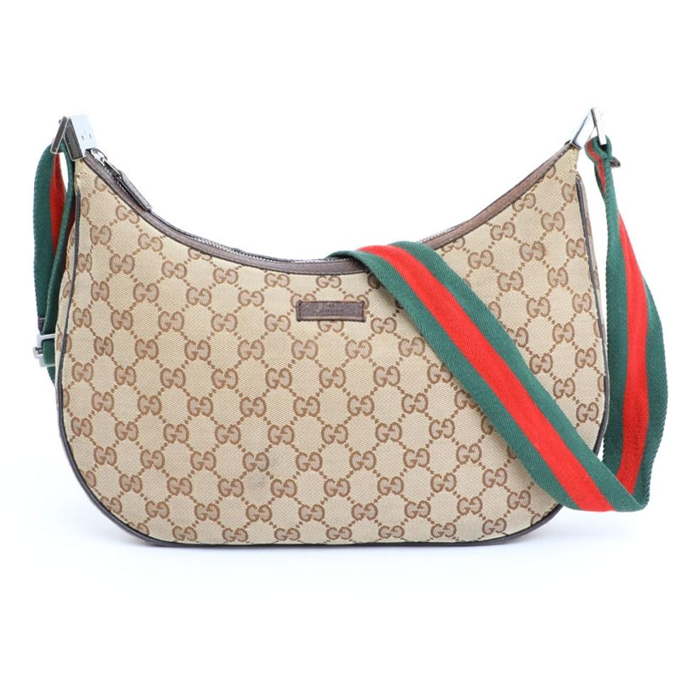 45297a199f838d Gucci 122790 Croissant Crescent Moon Sherry Cross Body Bag Image 0 ...